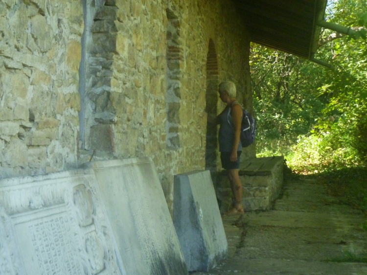 Lewis at abandoned building in Arbanassi